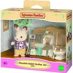 Dollhouse Accessories Sylvanian Families Chocolate Rabbit Brother Set
