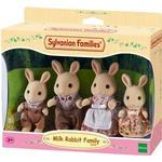 Dollhouse dolls - Bunny Sylvanian Families Milk Rabbit Family