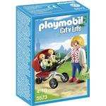 Cheap Play Set Playmobil Mother With Twin Stroller 5573