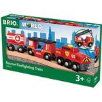Fire fighter - Toy Vehicles Brio Rescue Firefighting Train 33844