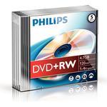 DVD Philips DVD+RW 4.7GB 4x Slimcase 5-Pack