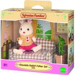Animals - Dollhouse Accessories Sylvanian Families Chocolate Rabbit Father Set