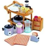 Kitchen Toys Sylvanian Families Kitchen Cookware Trolley Set