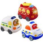 Plasti - Emergency Vehicle Vtech Toot Toot Drivers 3 Pack Emergency Vehicles