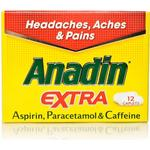 Fever Relief Anadin Extra 200mg/300mg/45mg 12pcs