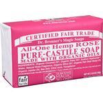 Bar Soap Dr. Bronners Pure Castile Bar Soap Rose 140g