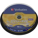 4x - DVD Verbatim DVD+RW 4.7GB 4x Spindle 10-Pack