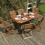 Rowlinson Plumley Dining Group, 1 Table inkcl. 6 Chairs
