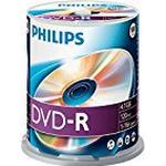 -R - DVD Philips DVD-R 4.7GB 16x Spindle 100-Pack