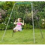 Metal - Swing Sets Plum Single Metal Swing Set