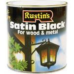 Wood Paint price comparison Rustins Quick Dry Satin Black Wood Paint, Metal Paint Black 1L