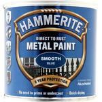 Metal Paint Hammerite Direct to Rust Smooth Effect Metal Paint Blue 0.25L