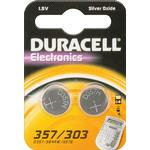 Silver Oxide - Button Cell Batteries Duracell 303/357 Silver Oxide 2-pack