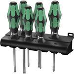 Slotted Screwdriver Wera 335/350/355/6 5105622001 Kraftform Plus Lasertip Set 6-parts