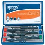 Slotted Screwdriver Draper PSS6 78924 Soft Grip Precision Set 6-parts