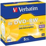 4x - DVD Verbatim DVD+RW 4.7GB 4x Jewelcase 5-Pack