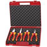 Cutting Pliers Knipex 00 20 15 Compact-Box Combination Plier, Nipper, Nose Plier, Stripper Plier Set 4-parts