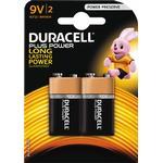 Alkaline - 9V (6LR61) Batteries & Chargers Duracell 9V Plus Power 2-pack