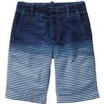 Shorts - Cotton Children's Clothing Dip Dye Seersucker Flat Front Shorts - Blue stripe (926647000)