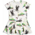 Ruffled Dresses - Short sleeve Children's Clothing Mini Rodini Insects Frill Dress - Off White
