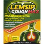 Cold Medicine - Sachets Lemsip Cough Max for Mucus Cough & Cold Lemon 1000mg 10pcs