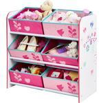 Storage Boxes Kid's Room Worlds Apart Hello Home Flowers & Birds 6 Bin Storage Unit