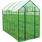 Cheap Freestanding Greenhouses vidaXL XL 40618 Stainless steel PVC Plastic