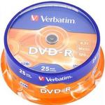 Verbatim DVD-R 4.7GB 16x Spindle 25-Pack