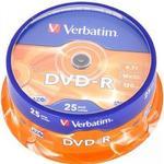 -R - DVD Verbatim DVD-R 4.7GB 16x Spindle 25-Pack
