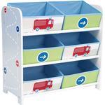 Storage Boxes Kid's Room Hello Home Trucks N Tractors 6 Bin Storage