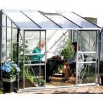 Lean-to Greenhouses price comparison Vitavia IDA Vægdrivhus 6.5m² Aluminum Glass