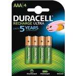 Rechargeable Standard Batteries Duracell AAA Recharge Ultra (4 pcs)