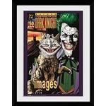 Framed Art GB Eye Batman Comic Joker Cat 30x40cm Framed art