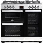 Dual Fuel Cooker Belling Cookcentre 90DFT Stainless Steel
