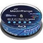 Blu-ray MediaRange BD-R 25GB 4x Spindle 25-Pack Wide Inkjet