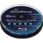 Blu-ray MediaRange BD-R 25GB 4x Spindle 10-Pack Wide Inkjet