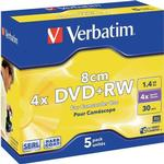 4x - DVD Verbatim DVD+RW 1.4GB 4x Jewelcase 5-Pack 8cm