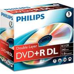 8x - DVD Philips DVD+R 8.5GB 8x Jewelcase 5-Pack