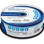 Blu-ray MediaRange BD-R White 25GB 6x Spindle 25-Pack Wide Inkjet