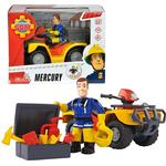 Fireman Sam Toys Simba Fireman Sam Vehicle Quad Bike Mercury with Character Sam