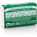Bar Soap Dr. Bronners Pure-Castile Almond Bar Soap 140g