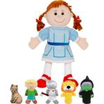 Puppets - Fabric Fiestacrafts Wizard Of Oz Hand & Finger Puppet Set