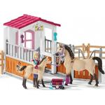 Play Set - Horse Schleich Horse Stall with Arab Horses & Groom 42369