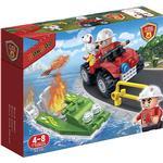 Construction Kit - Fire fighter Banbao Firemen Car & Boat 7118