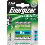 Rechargeable Standard Batteries on sale Energizer AAA Accu Recharge Extreme Compatible 4-pack
