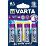 Batteries Varta Lithium AA 4-pack