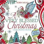 A paperback book A Very Blessed Christmas Coloring Book, Paperback