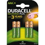 NiMH - Rechargeable Standard Batteries Duracell AAA Rechargeable Plus 4-pack