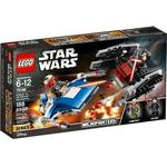 Star Wars Toys price comparison Lego Star Wars A-Wing vs TIE Silencer Microfighters 75196
