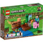 Cheap Lego Minecraft Lego Minecraft The Melon Farm 21138